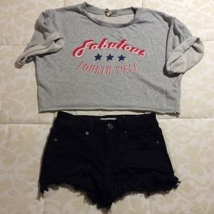 Crop Top and Shorts Outfit